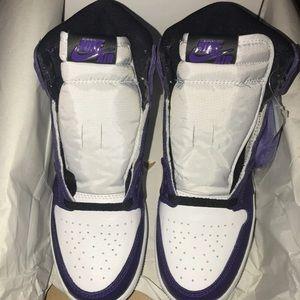 Jordan 1s court purples